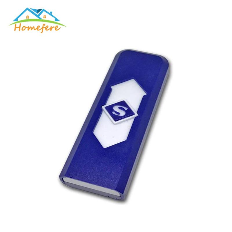 Homefere USB lighter windproof electronic ultra-thin cigarette lighter gift flameless USB electronic windproof charging lighter