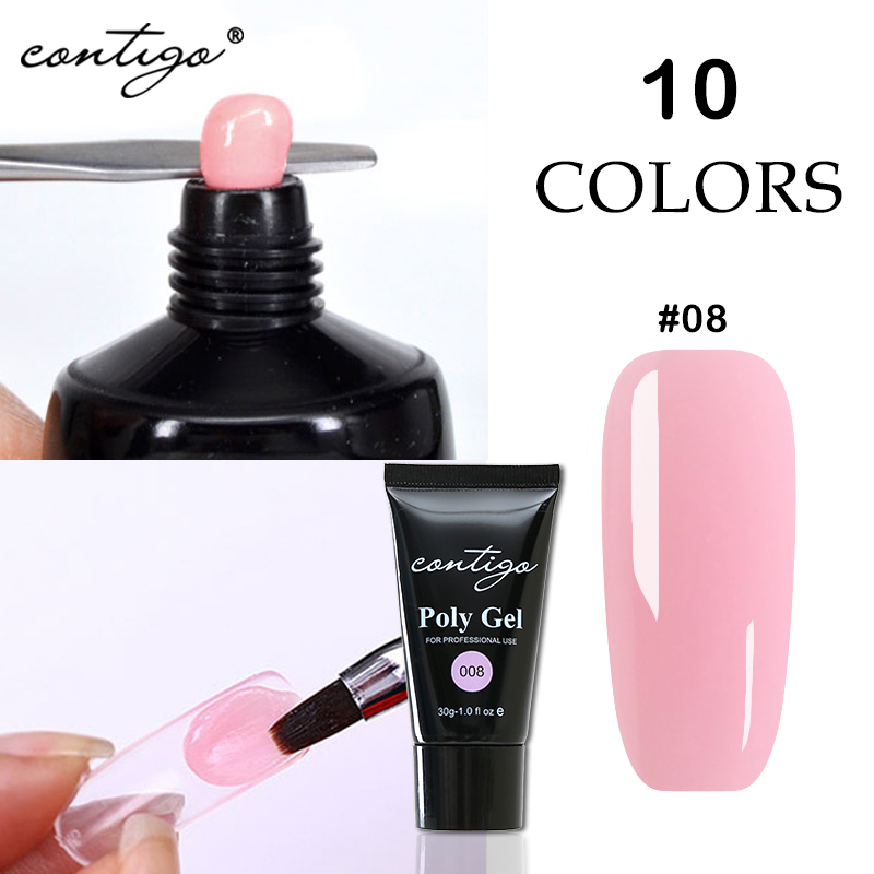 Contigo Poly Gel For Nail Building Nail Art Design Simple And Fast Crystal UV Extension Gel Paste Strengthener Poligel For Nails