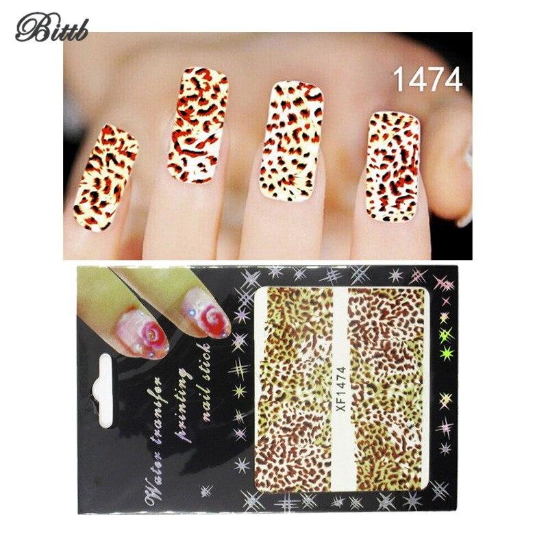 Diy Snow Leopard Nail Art: Bittb Nail Art Stickers Sexy Leopard Spots DIY Fingernail