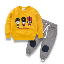 2017 Spring Kids Boy Girl Clothes Sweatshirts Long Sleeve Top Pants 2pcs Sport Suit Baby Cotton