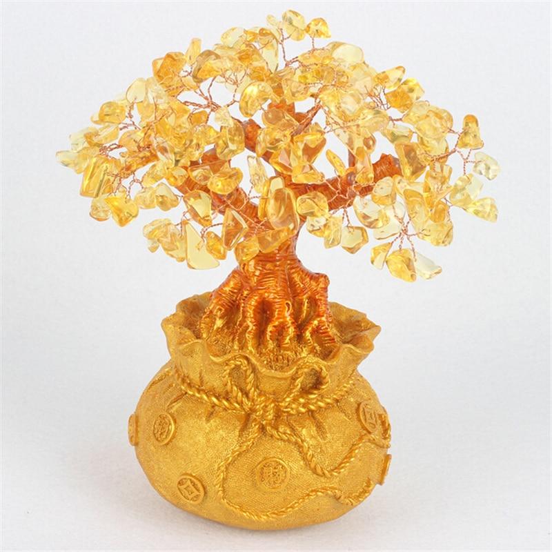 Dyqan me shkëlqim Citrine Lule Tree Hapja e Dhuratave Dekorative - Dekor në shtëpi - Foto 5