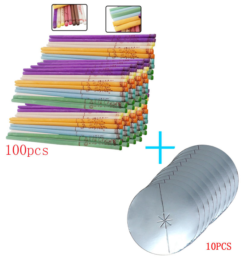 50- 100 Pieces Of Aromatherapy Ear Candle Quiet Bergamot  Horn With Plug Ear Maintenance Matching Tray