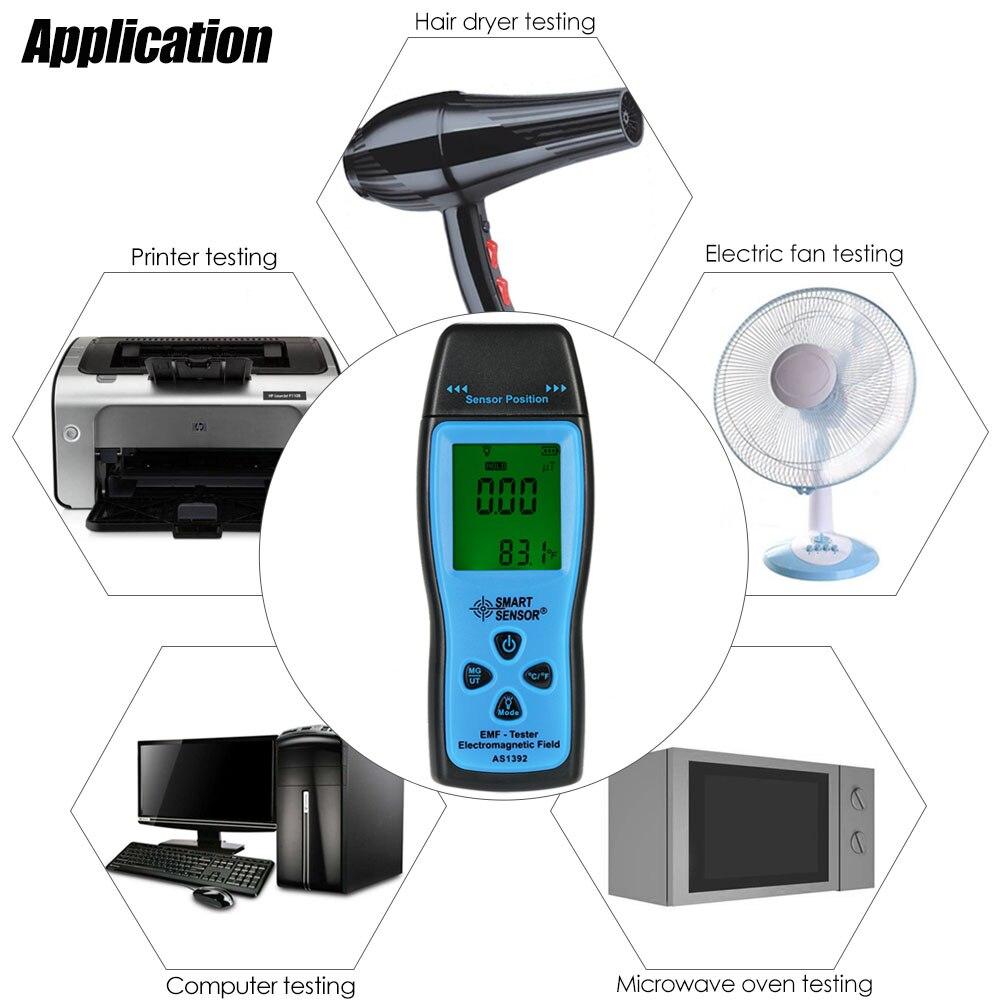 Handheld Mini Digital LCD EMF Tester Elektromagnetische Bereich Strahlung Detektor Meter Dosimeter Tester Zähler