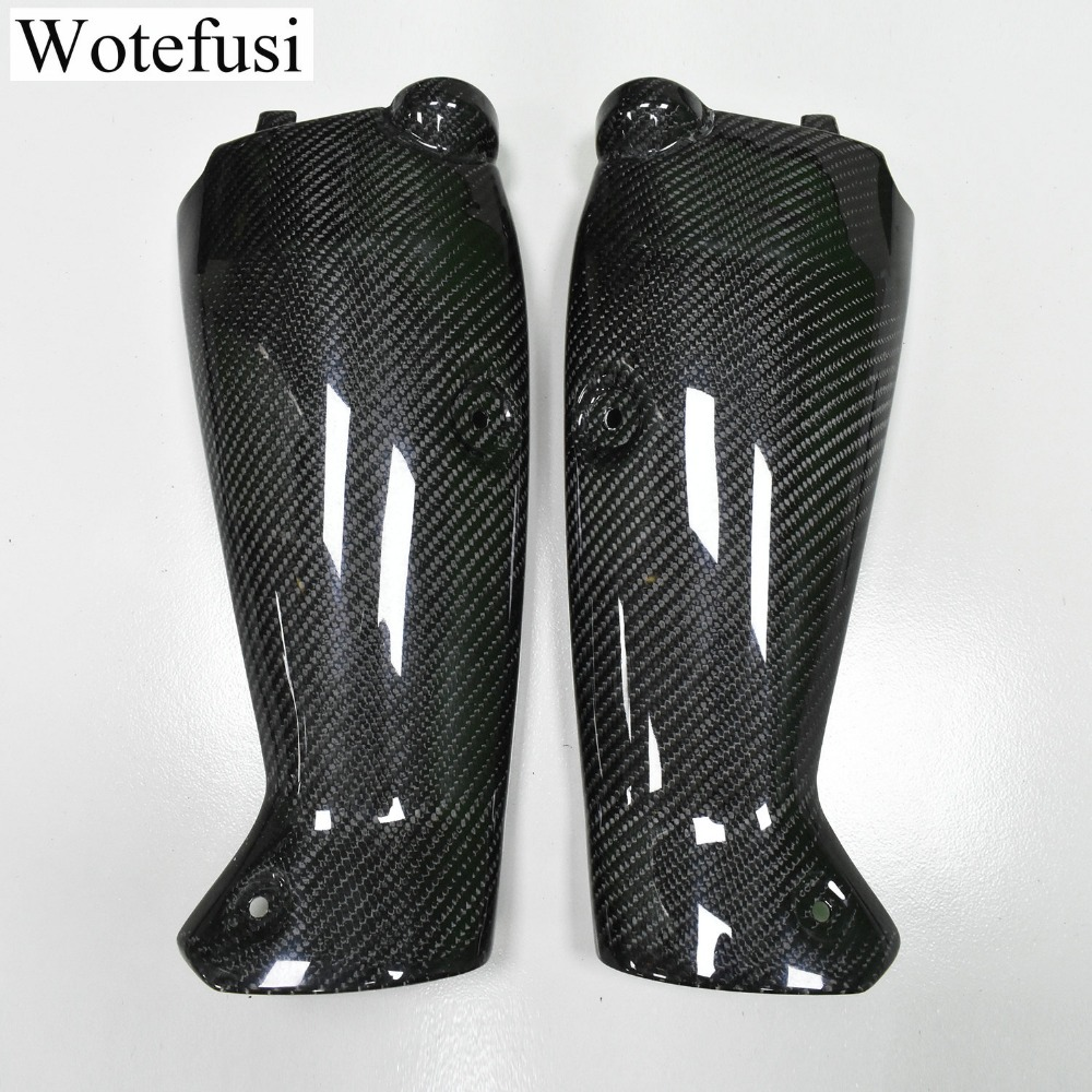 wotefusi Motorcycle New 2 Pieces Pair Left /& Right Carbon Fiber Tank Side Cover Panel Part Fairing Bodywork For Yamaha R1 2004-2006 2005