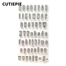 A to Z Letters Transparent Clear Stamps for Scrapbooking DIY Silicone Seal Photo Album Embossing Folder Stamp Sheet Supplies