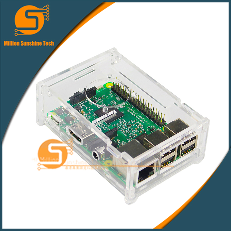 Raspberry PI 3 Model B Transparent Acrylic Case Cover Shell Enclosure Box For Raspberry PI 2 Model B And Model B+ Free Shipping
