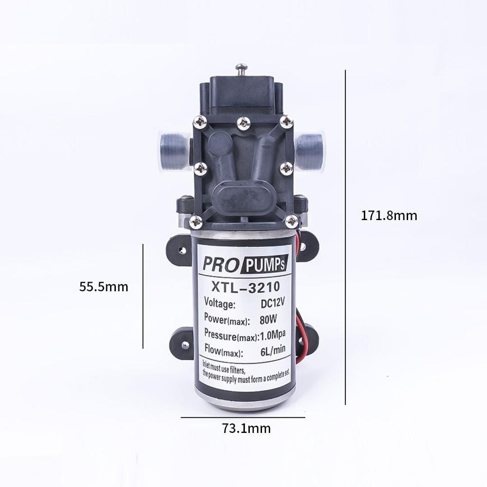 Commutateur automatique automatique de pompe de Reflux auto-amorçante de diaphragme à haute pression de l'eau 12 V 80 W 1.0Mpa 130PSI 6L/Min - 5