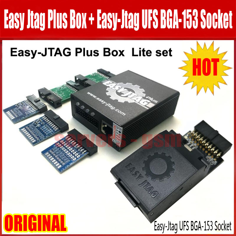 US $293 0 |2019 NEW ORIGINAL Easy j tag plus box with Easyjtag UFS BGA 153  Sockets Adapter-in Telecom Parts from Cellphones & Telecommunications on