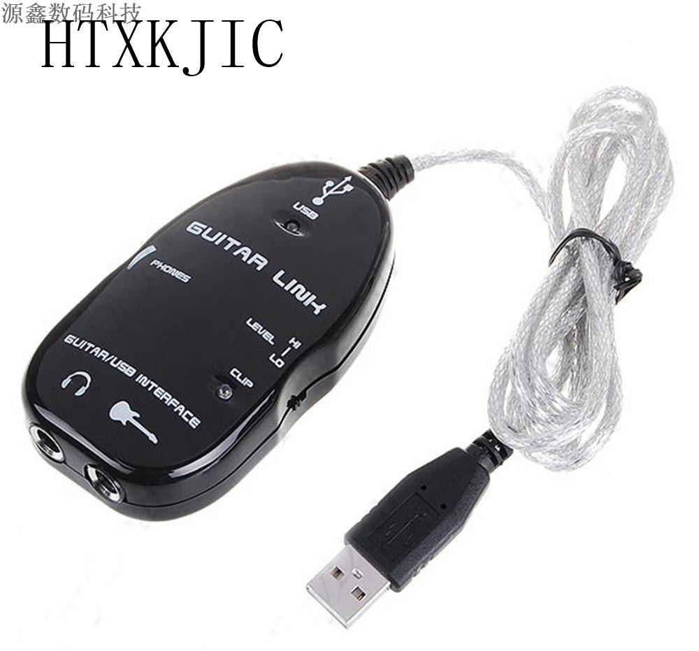 Guitar Link USB Audio Cable Interface Guitarlink Lead to Computer For PC MAC MP3 Recording XP With Driver Software New alesis guitarlink plus