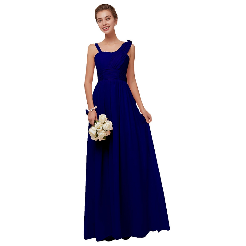 Beauty Emily Navy Blue Chiffon   Bridesmaid     Dresses   2019 Long for Women A-line Party Prom   Dresses   Wedding Party Bridal   Dress