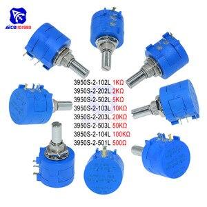 diymore Wirewound Potentiometer 3590S 500R 1K 2K 5K 10K 20K 50K 100KΩ Ohm 10-Turns Linear Rotary Wire Wound Potentiometer Pot(China)