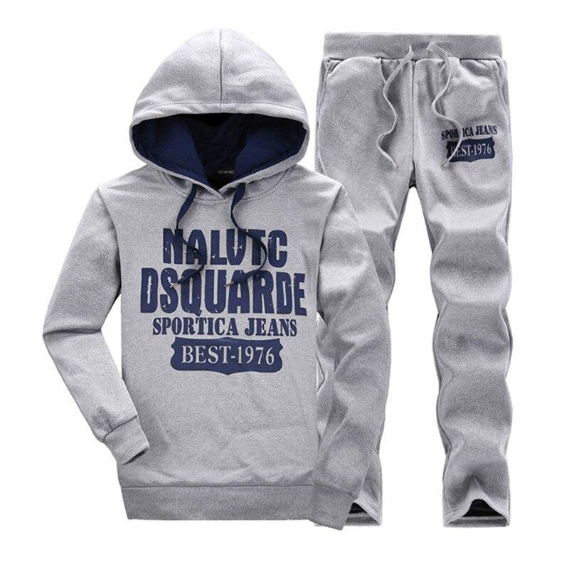 Otoño Sudaderas navy Deportiva Unids Ropa 5xl Chaqueta 2 Hombre De Pantalones Black M Chándales Capucha Marca Deportivos Conjunto Para Piezas 2018 Blue Gray Con Conjuntos lt qIYS0n