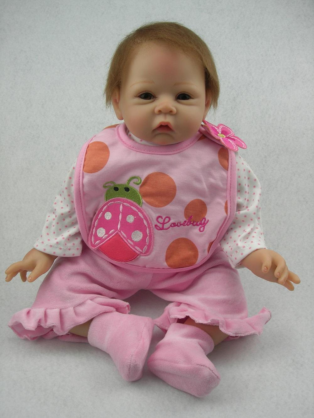 Reborn Baby Doll Soft Silicone Vinyl Baby Boy 22inch Magnetic Mouth Doll Gift US