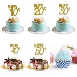 1 шт., украшение для торта на день рождения, 18, 20, 30, 50 лет