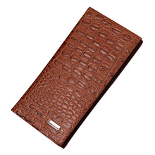 2019 Men Long Wallet Crocodile Quality PU Leather Wallets Fashion Korean Style Clutch Bag Card Holders Multifunctional Purses