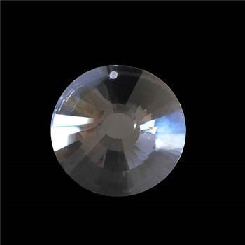 50pcs/Lot, 45MM Crystal Glass Round Sun Disk In 1 Hole Crystal Loos Beads Chandelier Prism Beads Free Shipping