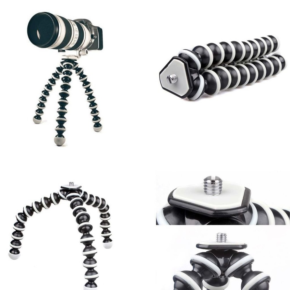 2018 Grand Octopus Trépied Flexible Stand pour Gopro Hero 4/3 +/3 sj40/Caméra Numérique DV Canon Nikon Mobile Téléphone