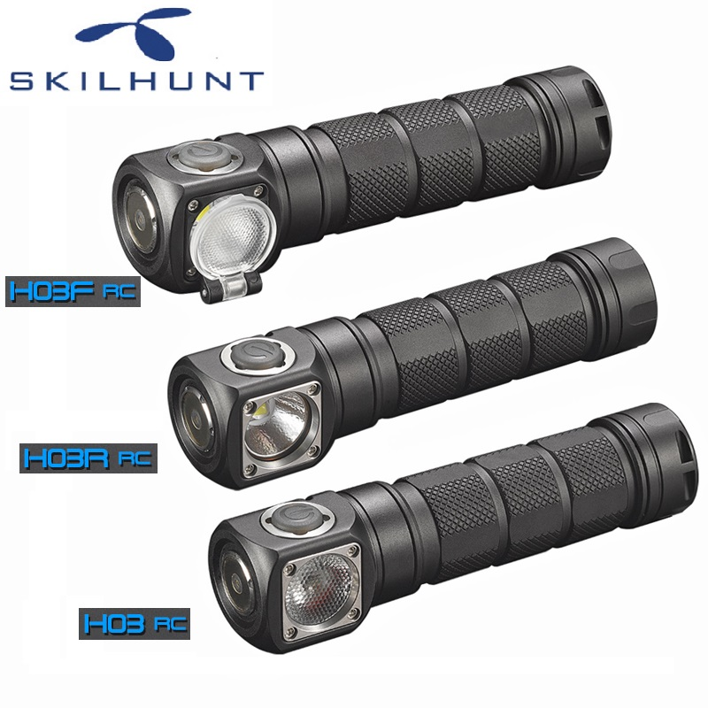 2018 Skilhunt H03 H03R H03F RC Led Lampe Frontale Cree XML1200Lm phare pour chasse pêche Camping par 18650 batterie