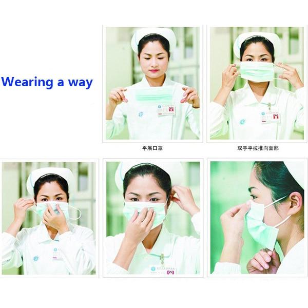 Stylish Mask Nail Face Disposable Medical Surgical 50pcs Dental