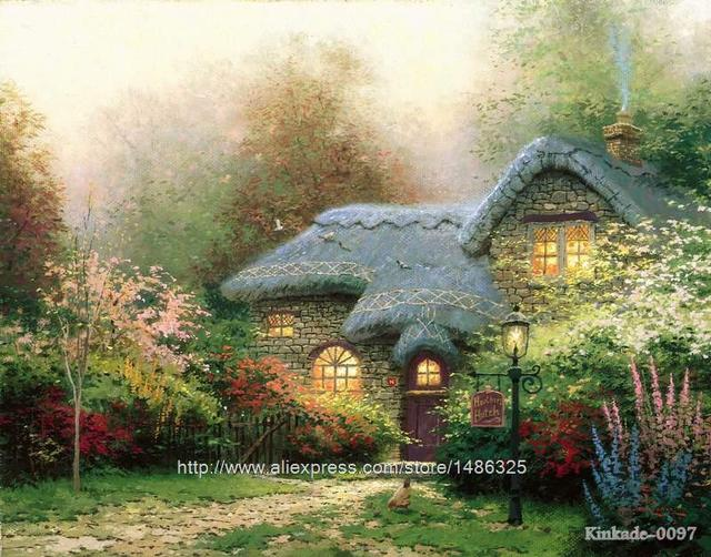 Chinees landschap thomas kinkade heather s hok eetkamer