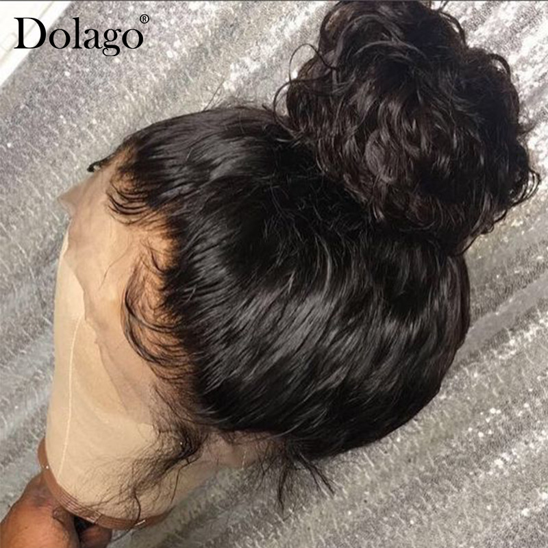 250% Density Deep Curly Silk Base Wig Glueless Full Lace Human Hair Wigs For Women Silk Top Lace Wig Natural Black Dolago Remy