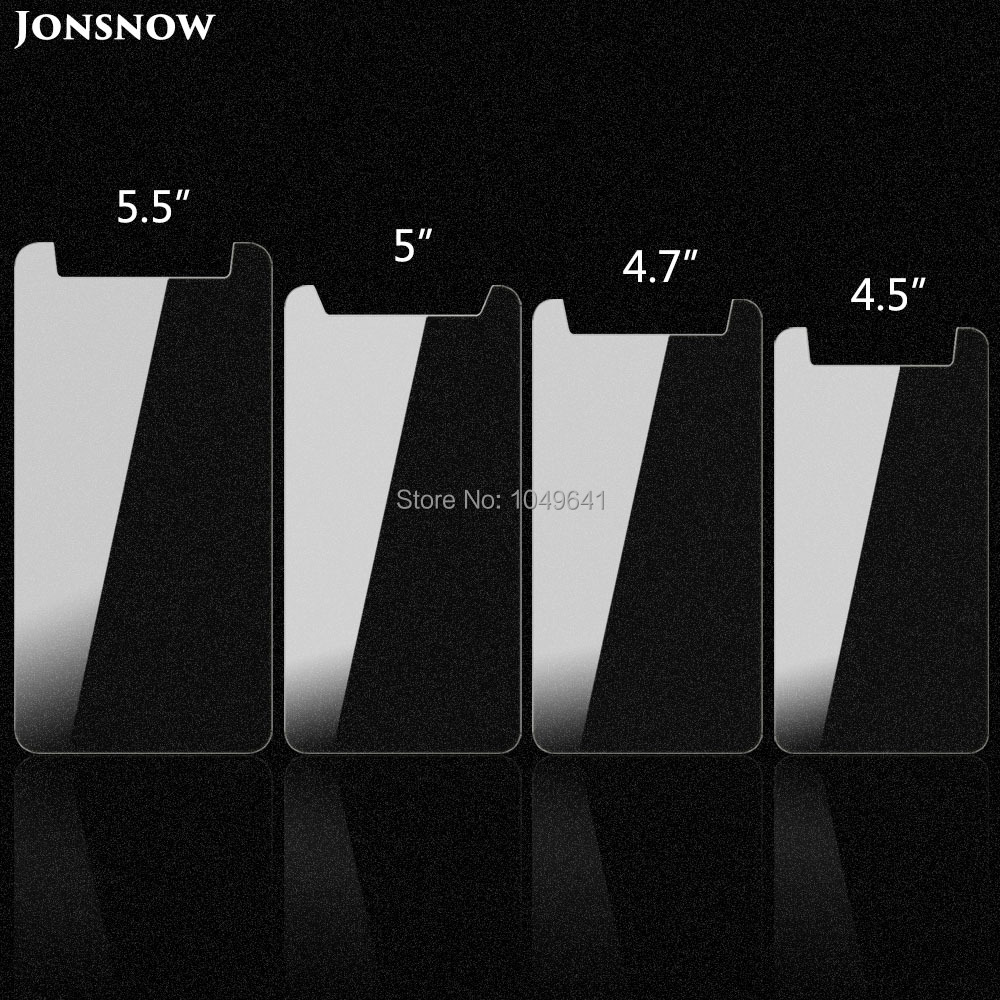 Universal Tempered Glass For 4.5 4.7 5.0 5.5 Inch Screen Protector Ultra-thin HD 9H 2.5D LCD Clear Film For Mobile Phone
