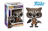 FUNKO POP! 1pcs First Edition Official Marvel Guardians of the Galaxy Rocket Raccoon Birthday Vinyl Action & Toy Figures Gift