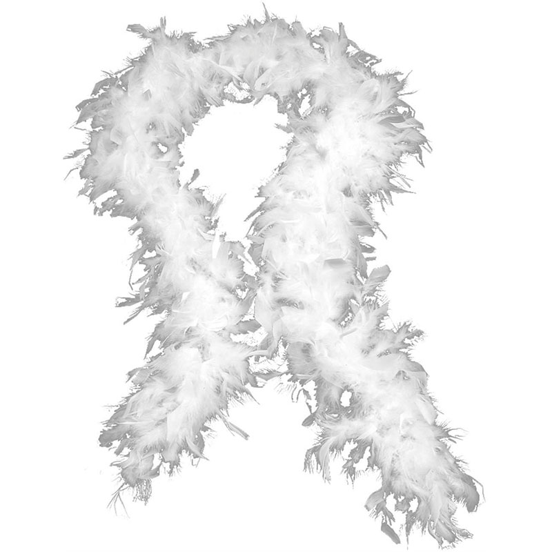 2016 Retail 79Inch Long Very thick and full WHITE FEATHER BOA Party Wedding Dress Costume Decoration Free Shipping
