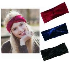 Velvet Twist Headband Women Earmuffs Earwarmers Noble Scrunchy Twist Hair Band Turban Headband Bandana Bandage On Head For Women