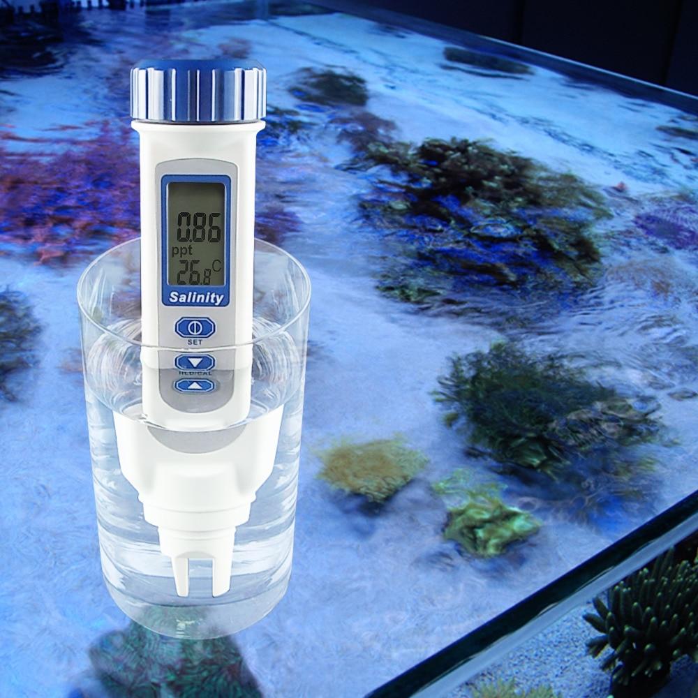 Salinity Temp Meter Pen Type Salt Water Quality Tester ATC NaCl 0 70 ppt Handheld Measurement