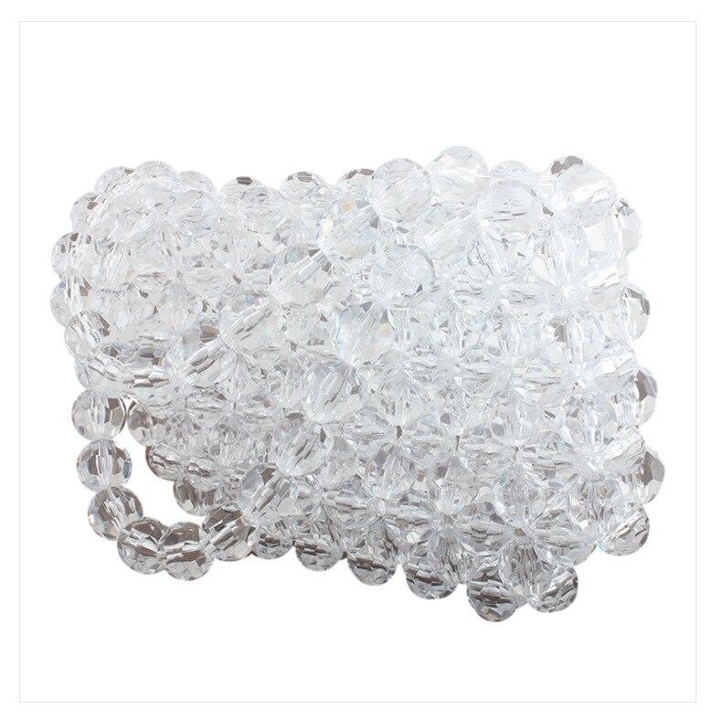 Pérolas de Cristal Transparente Geléia Saco Transparente