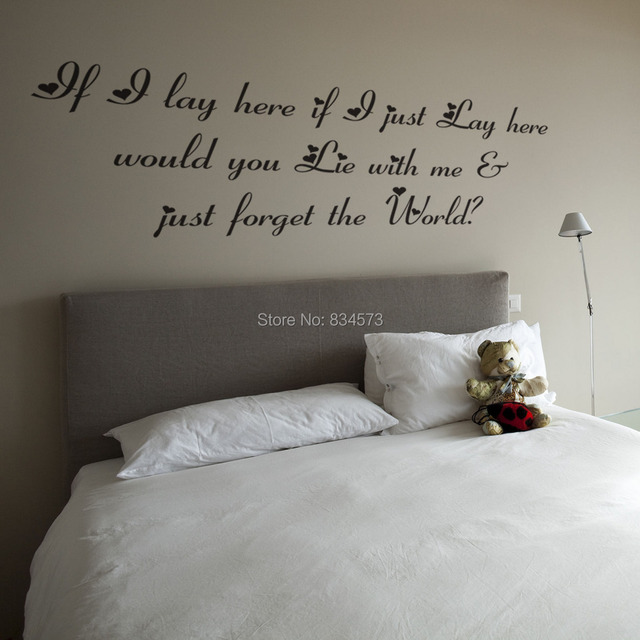 Sneeuw Patrol Lyrics Quote Wall Art Stickers Muurtattoo Home DIY ...