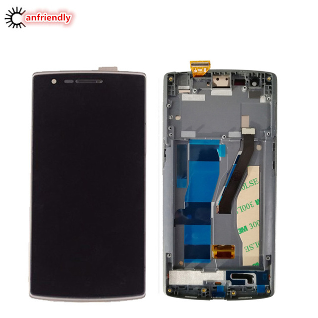 For Oneplus One 1+1 A0001 LCD Display + Touch Screen With Frame Digitizer Assembly Replacement Glass Panel For One Plus One lcds