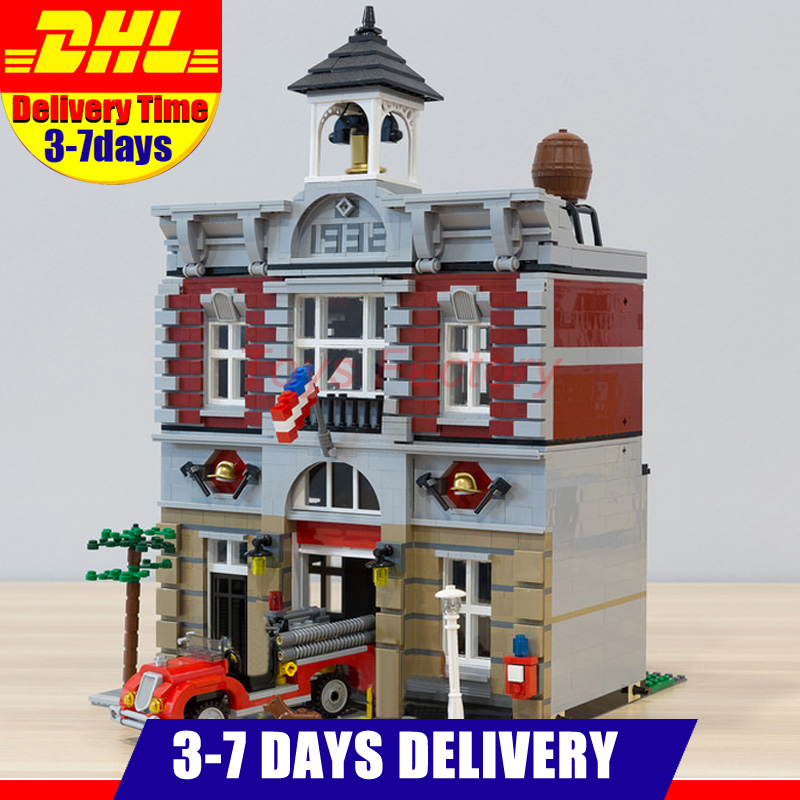 2018 DHL LEPIN 15004 Fire Brigade Station 2313 PCS City Street Building Blocks Bricks Toy Gift Compatible 10197 perdido street station