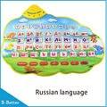 2016 New Upgrade Russian Alphabet Study Music Mat Playmat Animal Sounds Educational Learning Music Player Mats dance mat