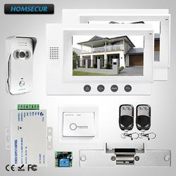 """HOMSECUR 7 """"Проводной Видео и Аудио Смарт Дверной Звонок Электрический Замок Включается: TC021-S + TM701-W"""