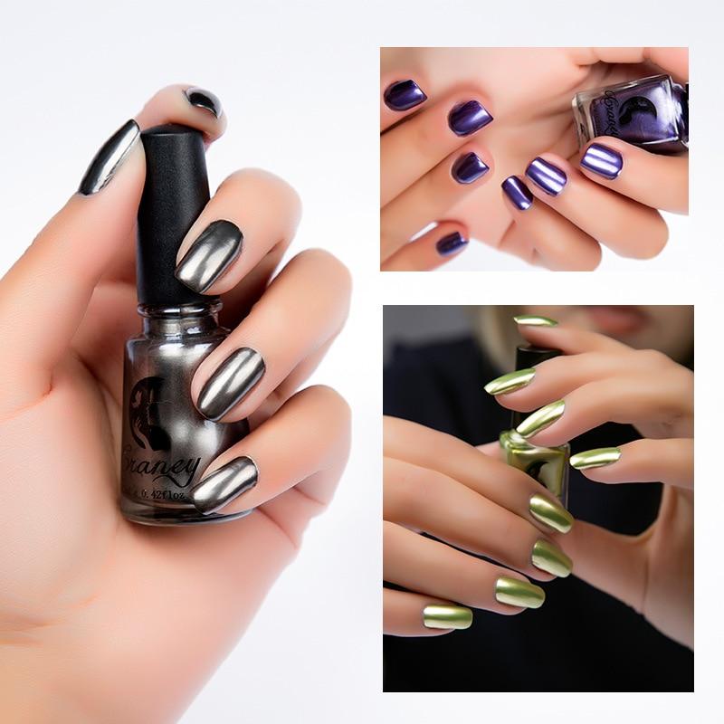Women\'s Fashion New Metallic Mirror Nail Polish Sexy Color Stainless ...