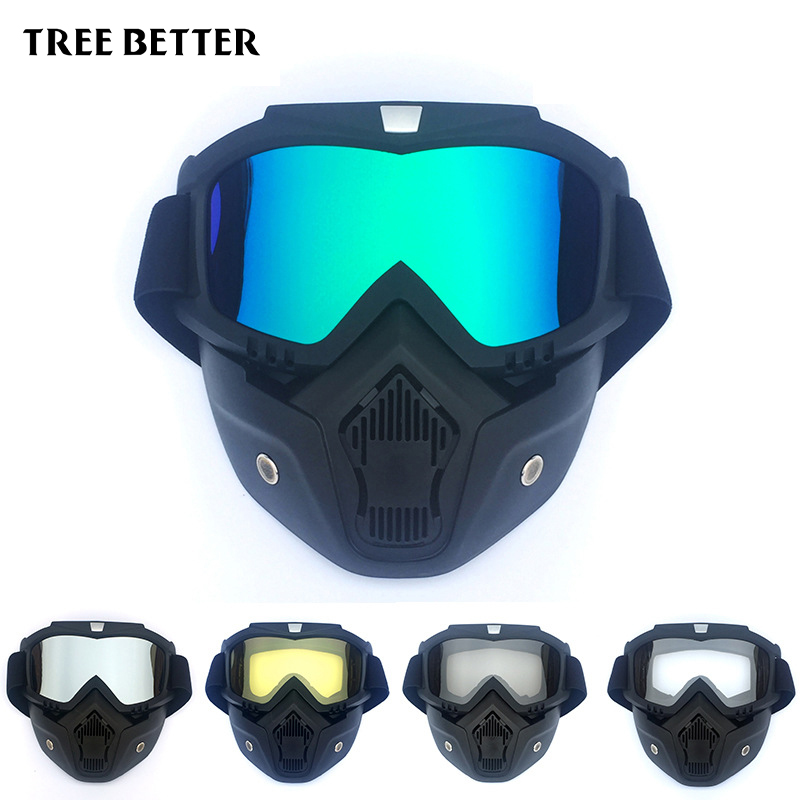 Ski Goggles Windproof Sand Prevention Riding mask Motocross Goggles Mask Big Cycling Glasses Men Women Snowmobile Skiing Skating