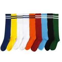 Fashion Striped Children High Knee Socks For Girls Boys Children Football Socks Cotton