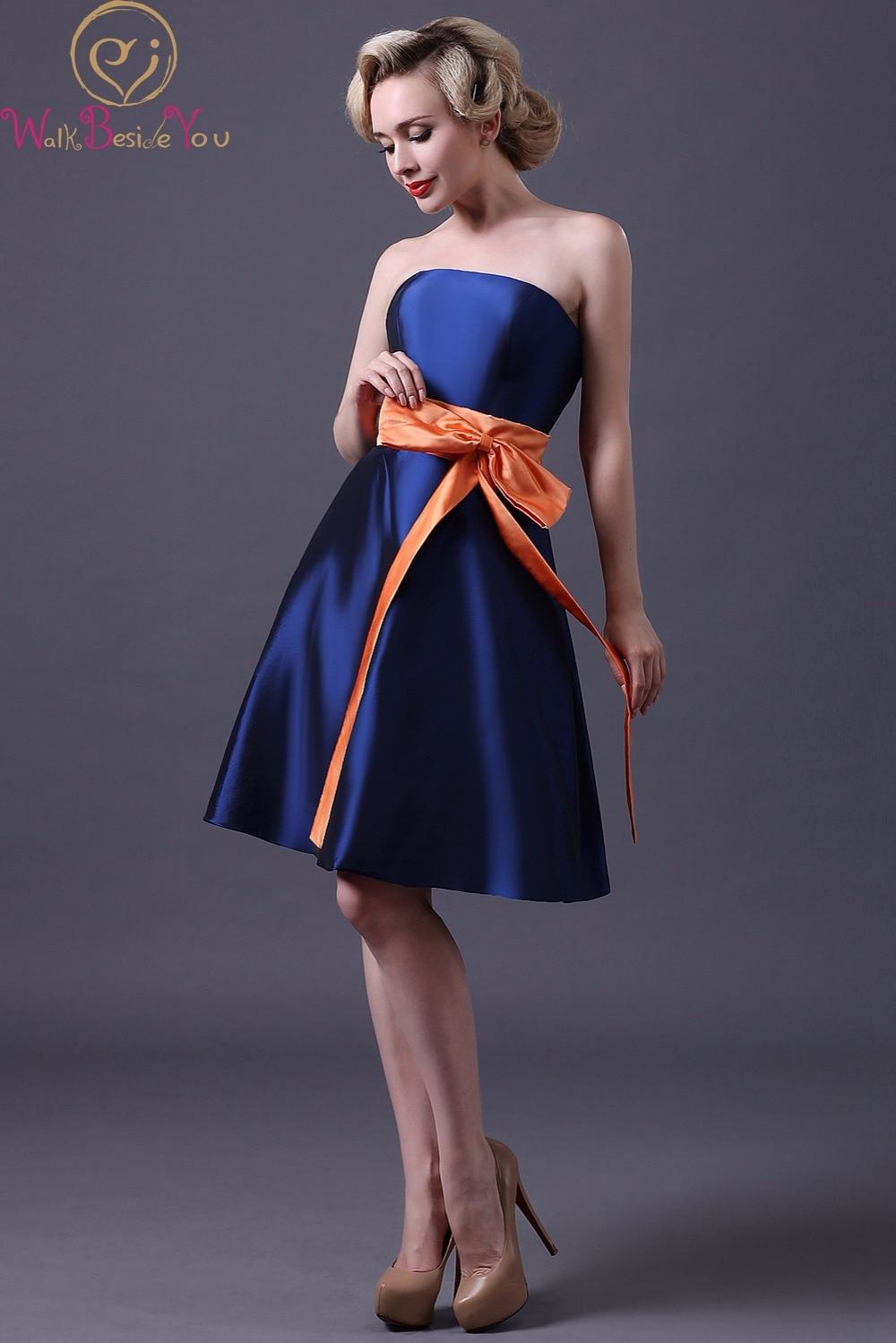 Miedoso Damas De Honor Azul Vestidos De Reino Unido Ideas Ornamento ...