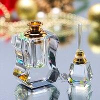 H & D 3 мл винтажный прозрачный для духов пустые бутылки мини Хрустальная бутылка для многоразового использования домашний декор для стола ту...