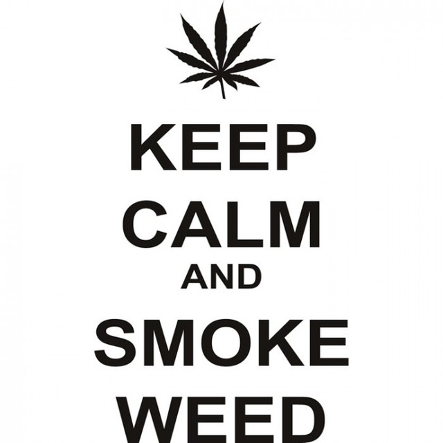 Hot Diy Wall Art Decals Quotes Keep Calm And Smoke Weed Living Room House Decoration