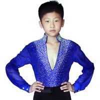 Hot Sale Latin Dance Competition Costumes Kids Boys Latin Ballroom Dance Dress Suit Performance Clothing