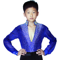 Hot Sale Latin Dance Competition Costumes Kids Boys Latin Ballroom Dance Dress Suit Performance Clothing