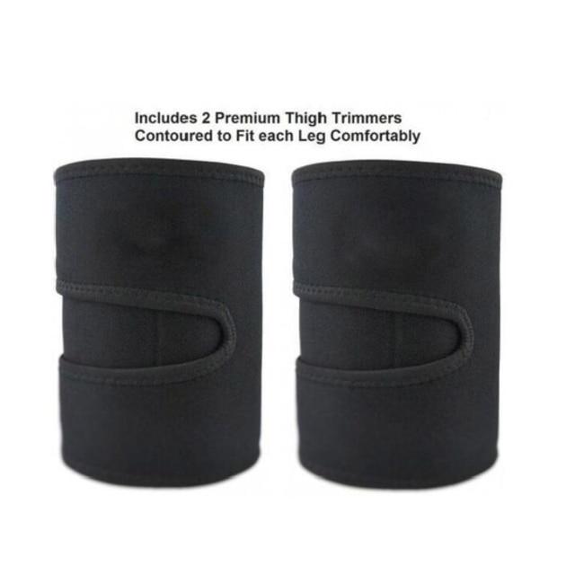 Men and women leg shaper sauna sweat thigh adjustable leggings weight loss hot neoprene compression belt sports knee pads 5