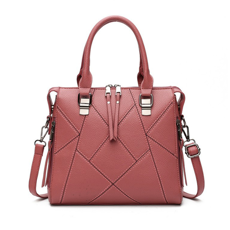 Luxury Handbags Women Bags Designer 2018 Ladies Plaid Leather Shoulder Tote Crossbody Bags High Quality Large Messenger Bag tcttt luxury handbags women bags designer fashion women s leather shoulder bag high quality rivet brand crossbody messenger bag