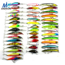 2016 Minnow JIADIAONI 43pcs/lot Fly Fishing Lure Set China Hard Bait Jia Lure Wobbler Carp 6 Models Fishing Tackle wholesale
