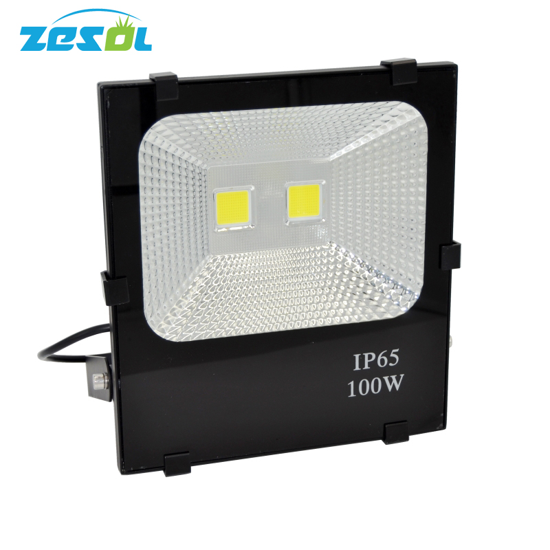 ZESOL LED Floodlight 100W Flood Spot light Refletor Outdoor Lighting Gargen Lamp  IP65 Waterproof AC85-265V ultrathin led flood light 200w ac85 265v waterproof ip65 floodlight spotlight outdoor lighting free shipping