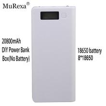 (Sin Batería) 8×18650 Batería Caja DIY Banco Portable LCD Display electricidad caja 2 de salida USB Powerbank poverbank shell