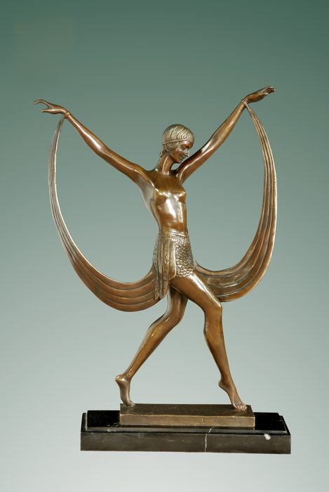 <font><b>Bronze</b></font> Statue girl <font><b>Walking</b></font> dancing sculpture <font><b>figurine</b></font> home decoration business Gifts signed by Fayral